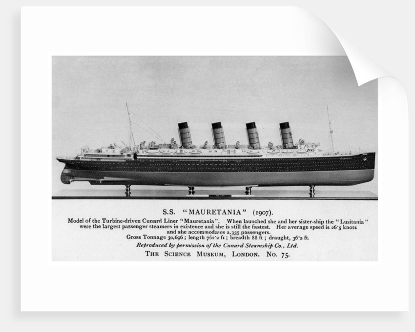 The RMS 'Mauretania' by Anonymous