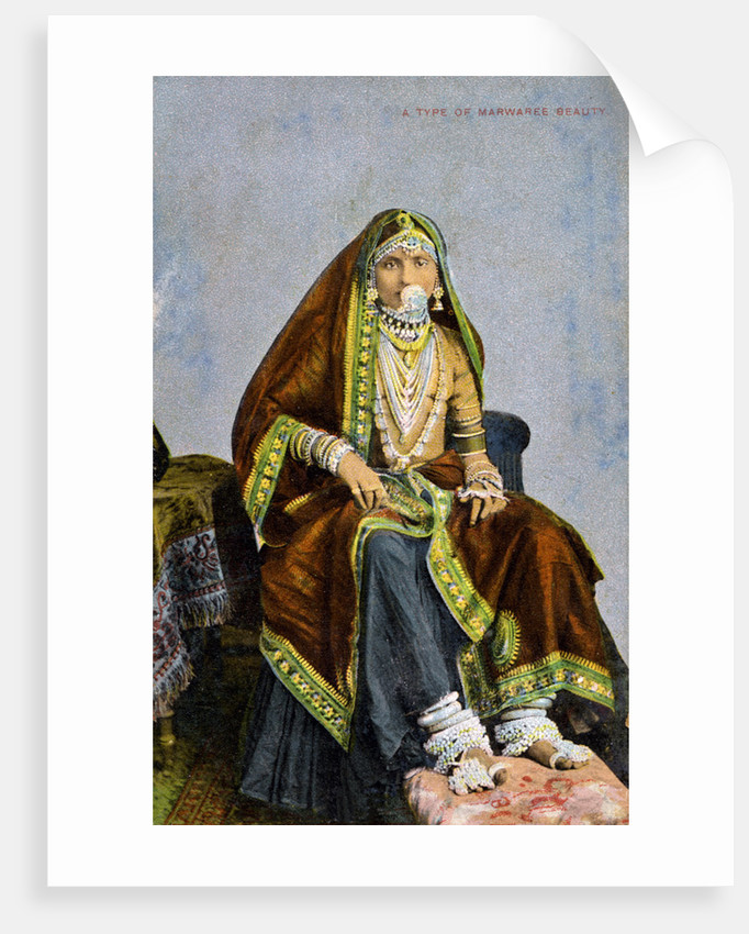 'A type of Marwaree beauty', India by Anonymous