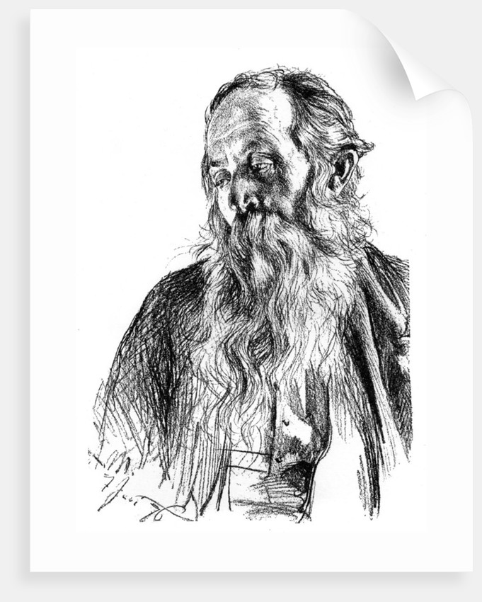 Study of a Jew by Adolph Menzel