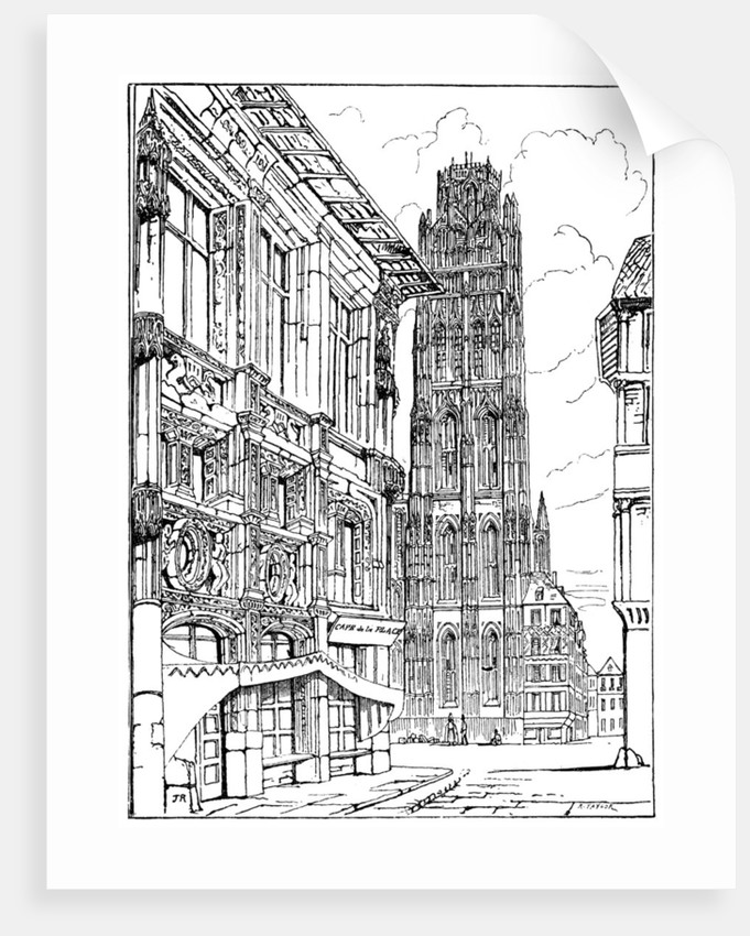 The Cathedral Spire, Rouen by Anonymous