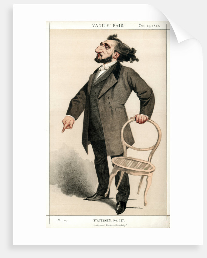 'He Devoured France with Activity', Leon Gambetta, French statesman by Montbard