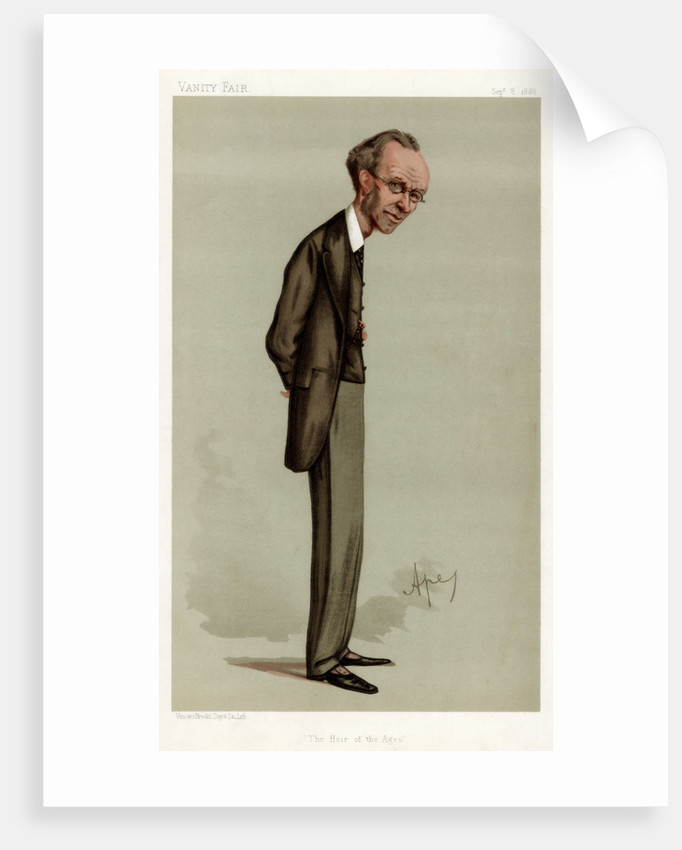 'The Heir of the Ages', James Payn, English novelist by Carlo Pellegrini