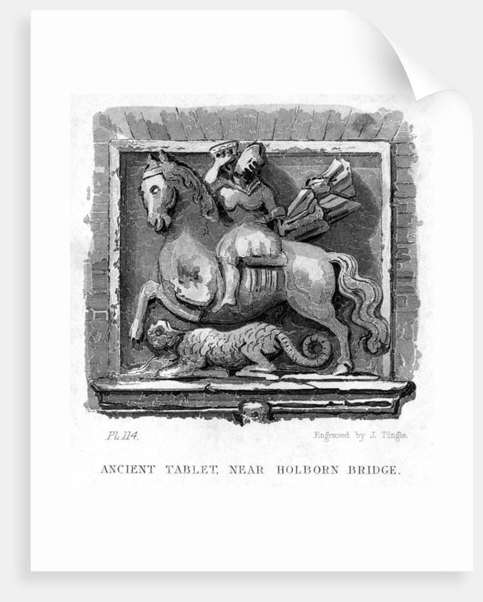 'Ancient Tablet, Near Holborn Bridge', London by James Tingle