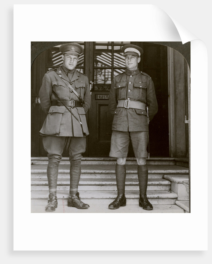 Captain MacDougall, DSO, and Cadet Mullin, two Canadian VCs, World War I by Realistic Travels Publishers
