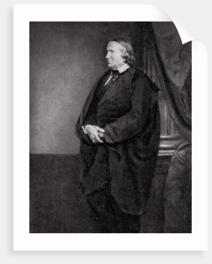 Alfred de Vigny, French poet, playwright and novelist by Anonymous