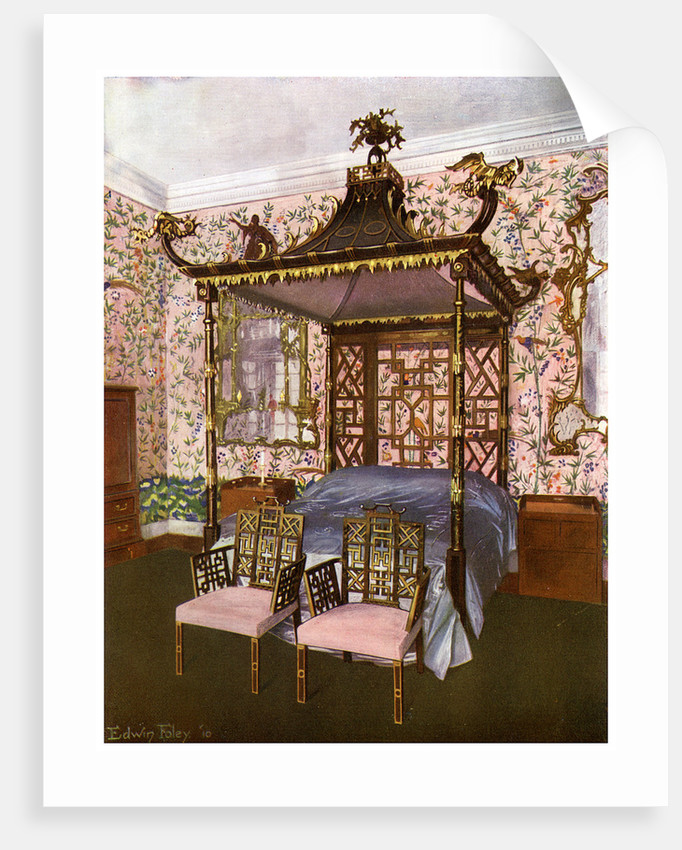 The Chippendale Chinese Bedroom, Badminton House, Gloucestershire by Edwin Foley