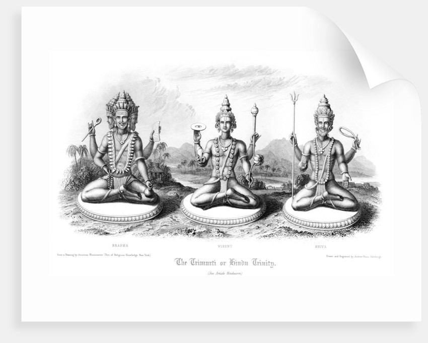The Trimurti or Hindu Trinity by Andrew Thomas