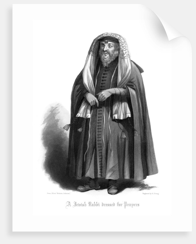 A Jewish Rabbi Dressed for Prayers
