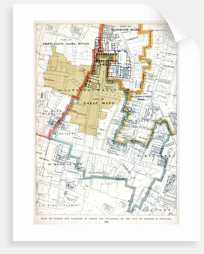 Plan of the Wards and Parishes in Which the Guildhall of the City of London is Situated by Anonymous