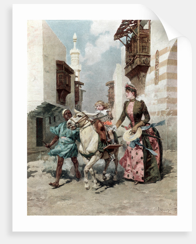 The Egyptian Quarter at the Universal Exposition, Paris by Anonymous