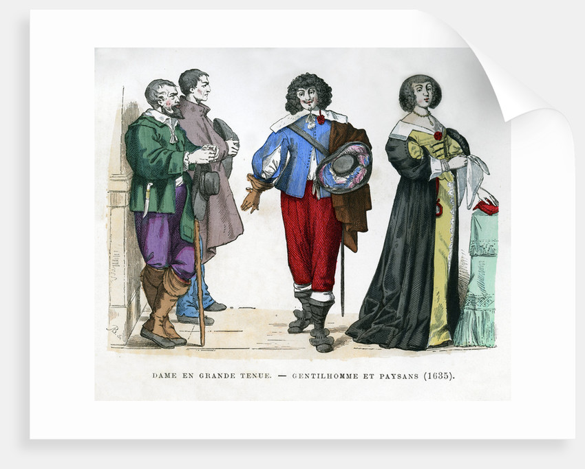 Peasants, a gentleman and a lady by Anonymous