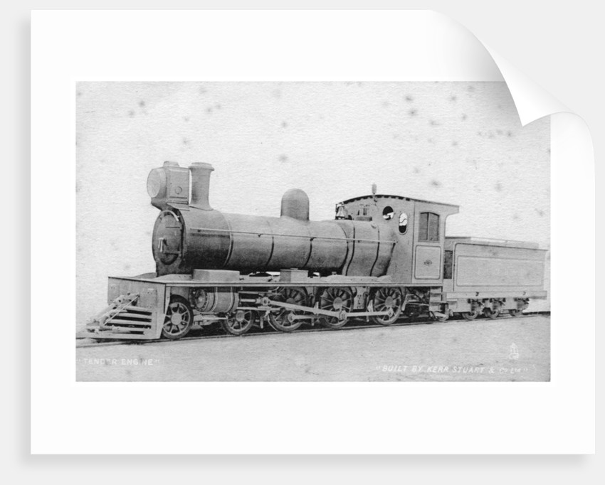 4-6-0 tender engine, steam locomotive built by Kerr, Stuart and Co by Raphael Tuck