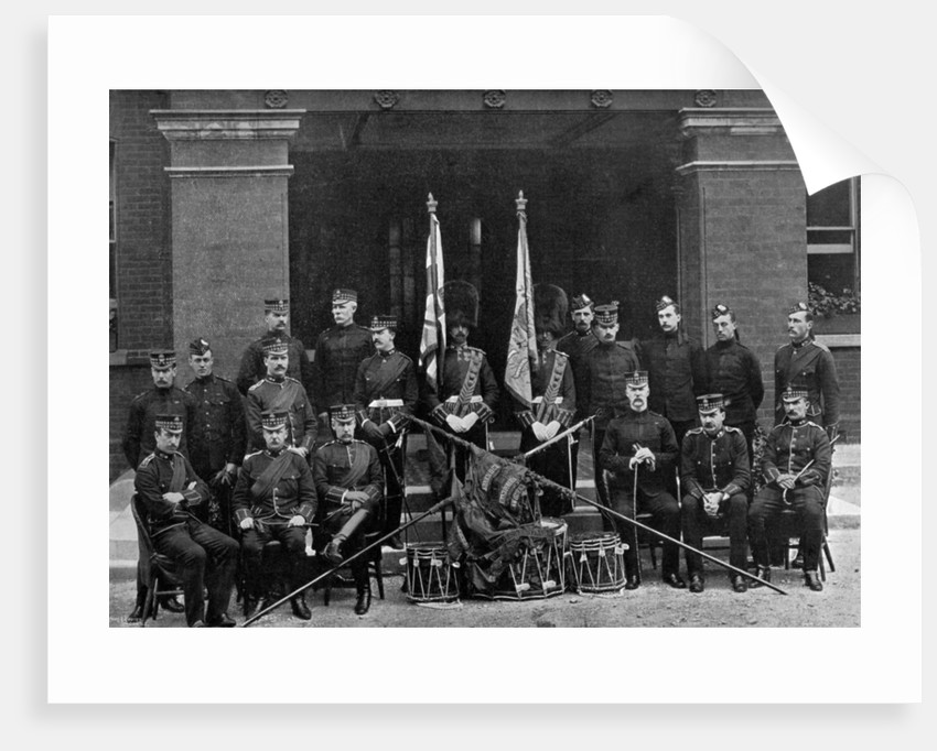 The officers and colours of the 1st Battalion, Royal Scots Fusiliers by Wyrall & Son