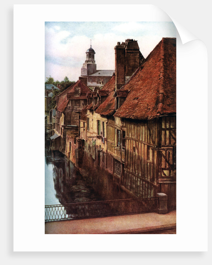 Timber houses by the Pont de Caen in Caudebec-en-Caux, Normandy, France by Anonymous