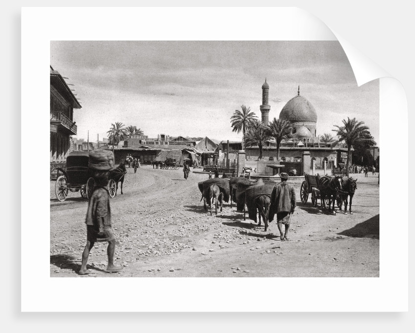 View of a street from the North Gate, Baghdad, Iraq by A Kerim