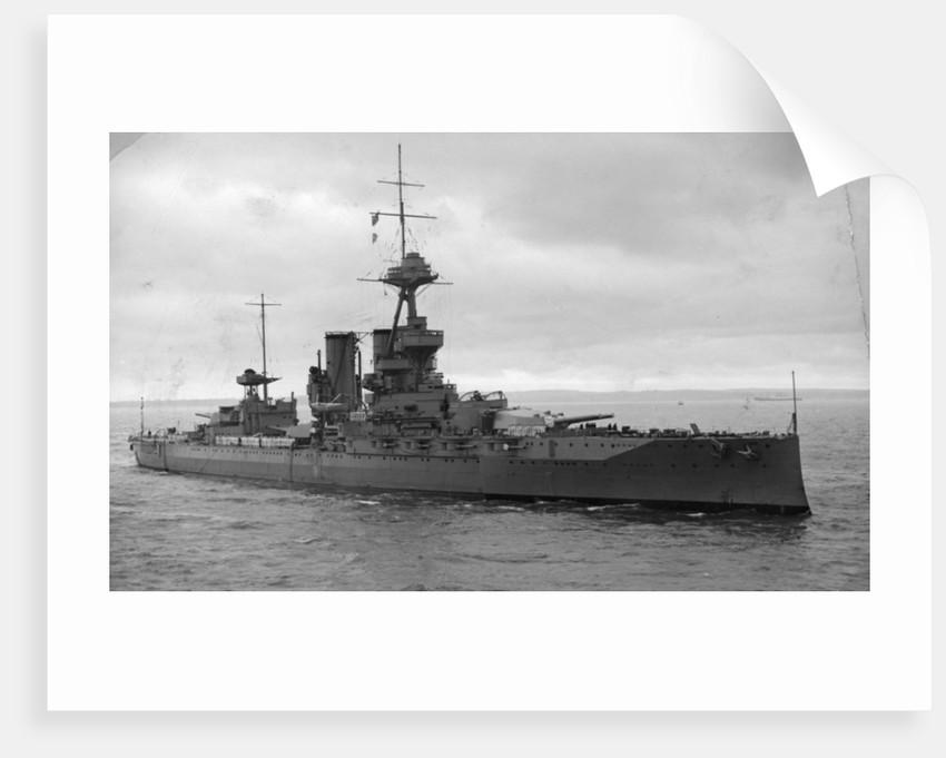 HMS Iron Duke, British battleship by Anonymous