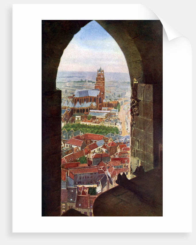 View from the belfry of Bruges, Belgium by Anonymous