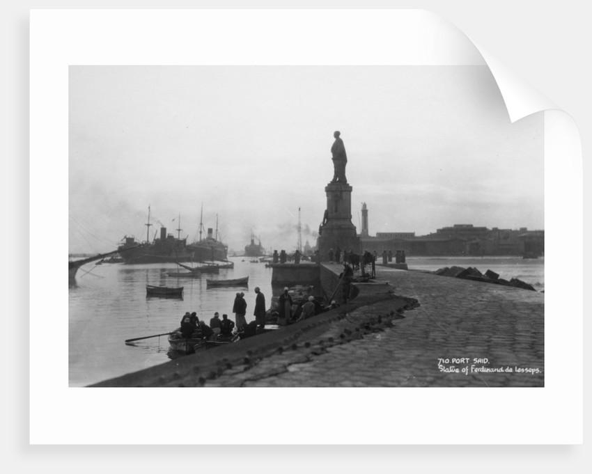 Statue of Ferdinand de Lesseps, Port Said, Egypt by Anonymous