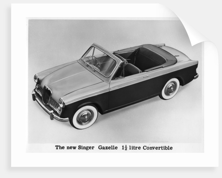 The new Singer Gazelle 1.5 litre convertible by Anonymous