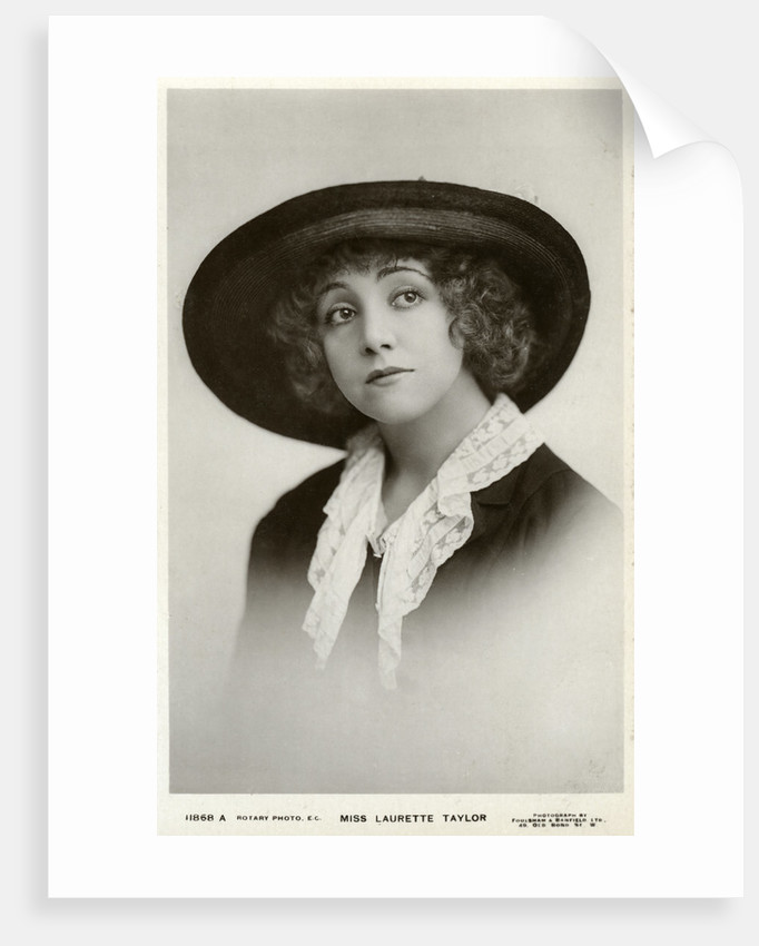 Laurette Taylor, American actress by Foulsham and Banfield