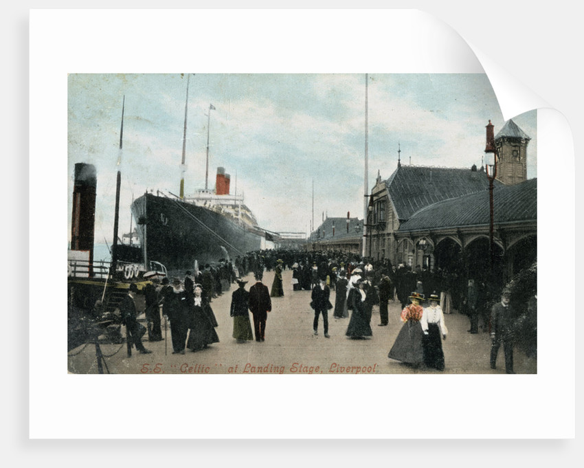 Steamship SS 'Celtic' at the quayside, Liverpool, Lancashire by Valentine & Sons
