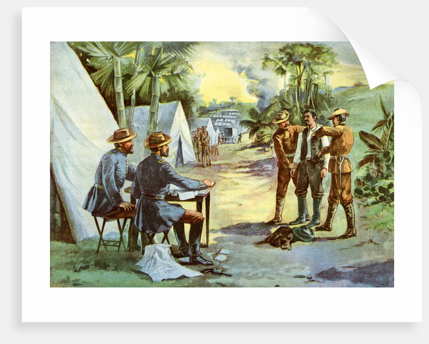 'A Spanish spy in camp', Spanish-American War by Anonymous
