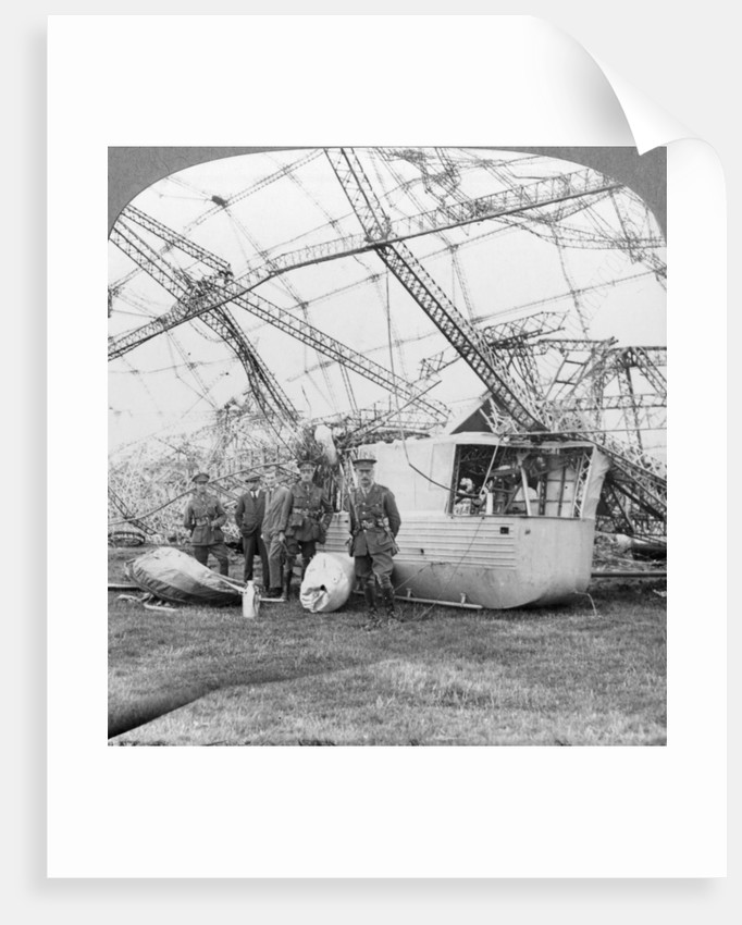 Gondola of the Zeppelin shot down off the Essex coast, World War I by Realistic Travels Publishers