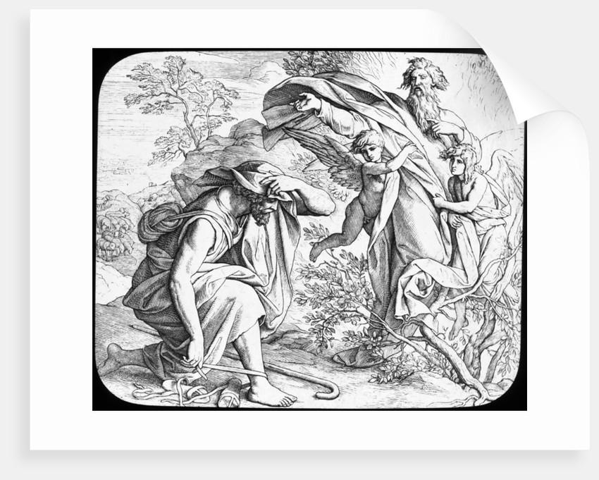Moses and the Burning Bush by Julius Schnorr von Carolsfeld
