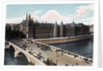 The Conciergerie and the Pont Neuf, Paris by Anonymous