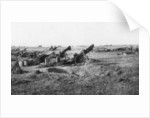 American 155th artillery battery, south of Soissons, France by Anonymous