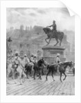 'Bengal Mounted Lancers passing the statue of Joan of Arc', France by J Simont