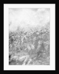 'German soldiers under fire from allied guns', Flanders, World War I by J Simont