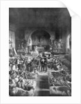 A field station at the front, in the nave of a rural church, World War I by Anonymous