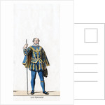 Lord treasurer, costume design for Shakespeare's play, Henry VIII by Anonymous