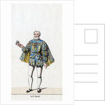 Sir William Sands, costume design for Shakespeare's play, Henry VIII by Anonymous