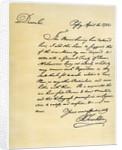 Letter from Benjamin Franklin to David Hartley MP by Benjamin Franklin