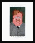 GK Chesterton, British poet, novelist and critic by Alick P F Ritchie