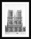 Front view of Notre Dame, Paris by Ernest Flammarion