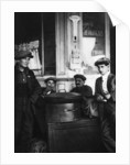 Street sellers of roasted chestnuts, Paris by Ernest Flammarion