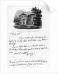 A letter from Edward Young, and a view of his residence at Welwyn, Hertfordshire by Edward Young