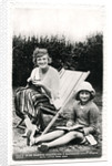 Gladys Cooper (1888-1971), English actress, with her daughter Joan by Sport & General