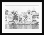 Bathing ghat on the Yamuna River, Muttra by Anonymous