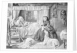 The Queen in a Cottage Bedroom by Anonymous