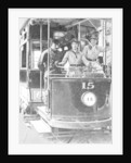 Women learning to drive a tram by Anonymous