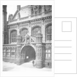 Entrance to the law courts, Birmingham by Arthur Cox Illustrating Co