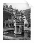 Fountain in the cloisters of Newstead Abbey, Nottingham by Richar Keene