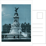 The Queen Victoria memorial, Buckingham Palace, London by FGO Stuart