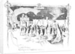 A cricket theme for a menu card design by George Hillyard Swinstead