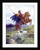 A knight riding a rearing horse by Anonymous