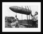 Large shell on its way to the front, First World War by Anonymous